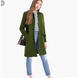 Nwt J.crew wool coat with ruffles pockets